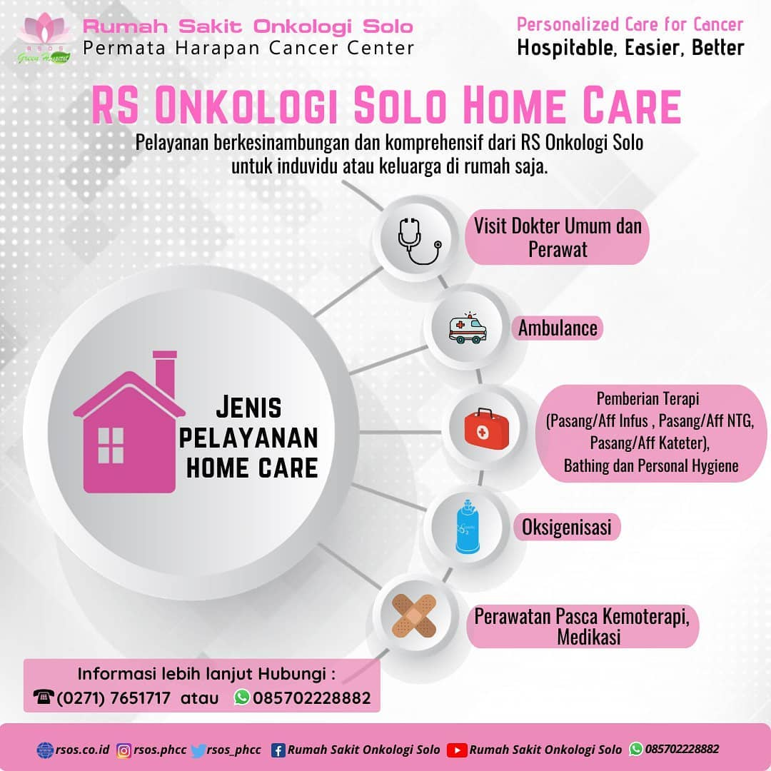 Pelayanan Home Care Rumah Sakit Onkologi Solo